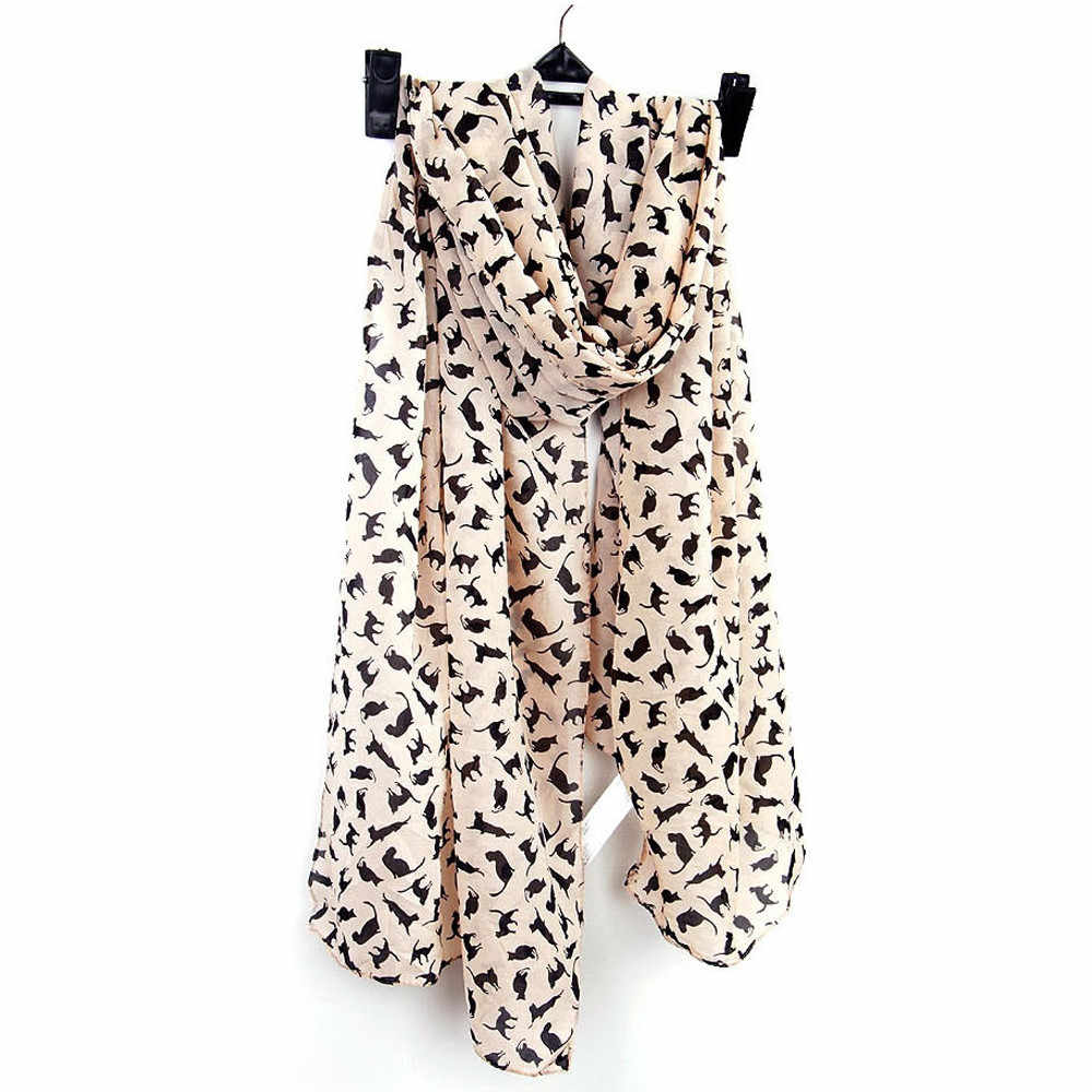 1 pc ブラックホワイトベージュカジュアル女性レディスタイリッシュな音符薄型シフォンネックスカーフショール 2019 ホットマフラー Scarve secharpe # YL5