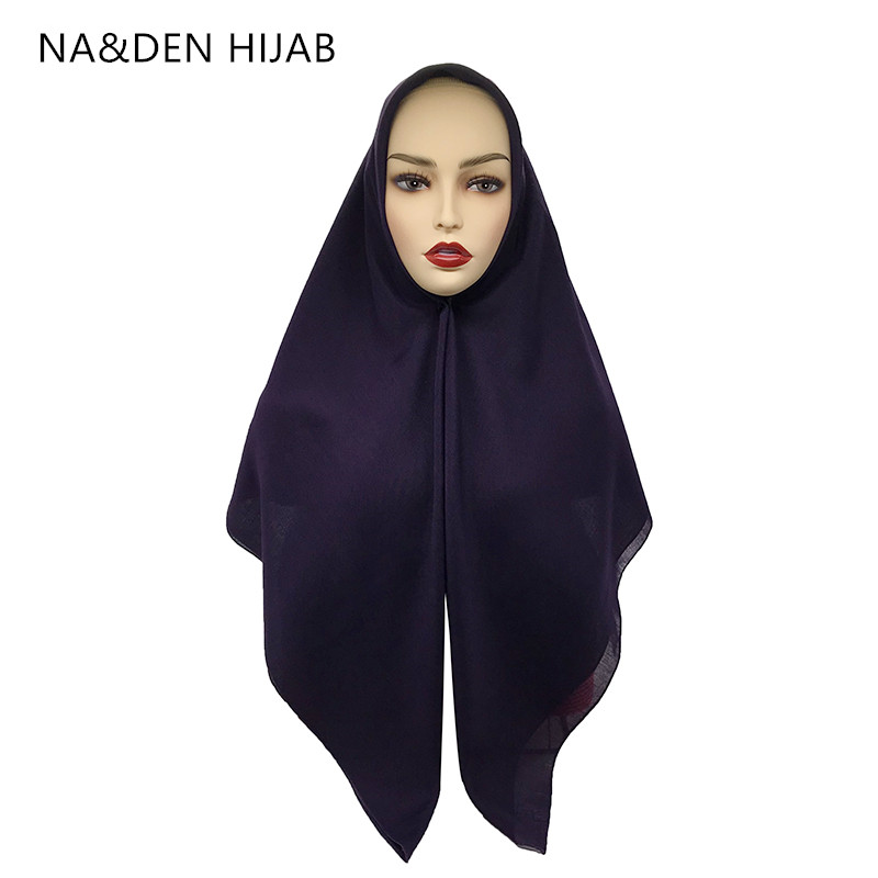 1PCS NEW Square Pashmina Muslim Headscarf New Bandana Popular Hijab Shawls Lady Solid Scarf Fashion Islamic Hijab Women Muffler