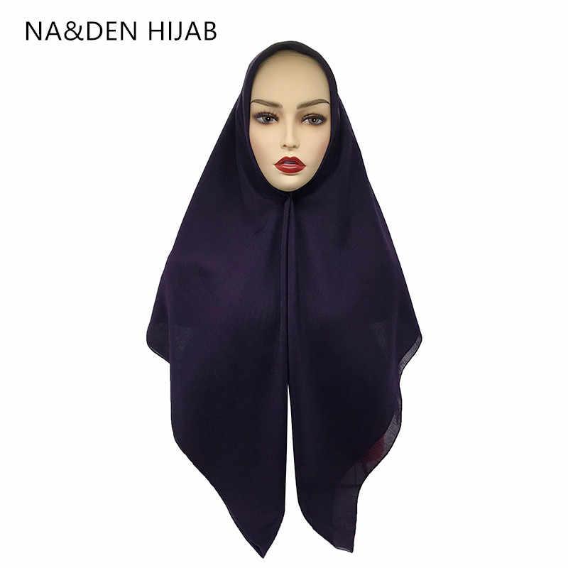 1PCS חדש כיכר פשמינה מוסלמי מטפחת חדש בנדנה פופולרי חיג 'אב צעיפי ליידי צעיף מוצק אופנה אסלאמי חיג' אב נשים צעיף