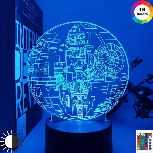 3d Lamp Hologram Star Wars Starship Nightlight for Office Decor Cool Birthday Gift for Boyfriend Kids Child Boy Led Night Light