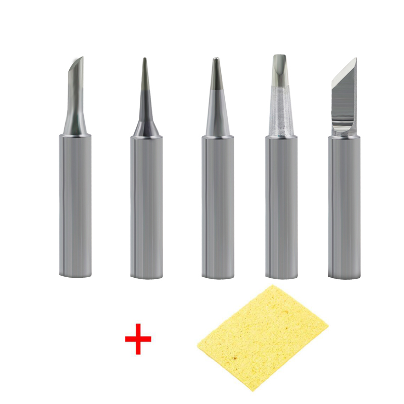Dusco.E 5 Pcs/lot 900M Solder Iron Tip Kit Lead-free Welding Tips For 937 878D 898D 852D 936 Soldering Rework Station Tools