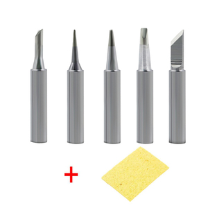 Dusco.E 5 pcs/lot 900M Solder Iron Tip Kit Lead-free Welding Tips for 937 878D 898D 852D 936 Soldering Rework Station Tools(China)