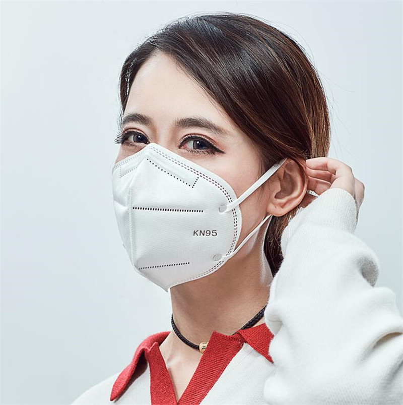 Face Masks Anti-fog Dust Respirator N95 Masks Adaptable Against Pollution Breathable Mask As KN95 CE Certification 5pack 10PCS
