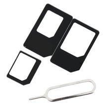 ONLENY 4 в 1 комплект адаптеров для сим-карты Micro standard SIM адаптер для iPhone 5 5S 6 7 4 для samsung S8 S7 S6 plus