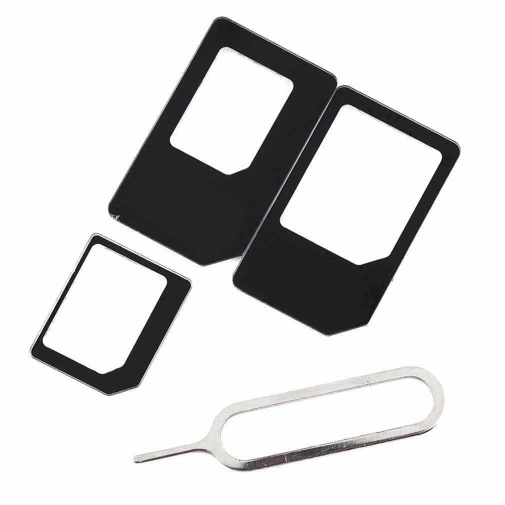 ONLENY 4 in 1 SIM Karte Adapter Kit Micro Standard Sim Adapter für iPhone 5 5S 6 7 4 für Samsung S8 S7 S6 plus Großhandel
