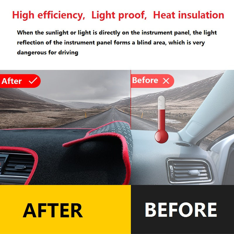 pour Audi Q2 2017 2018 2019 2020 YXNVK Tableau de Bord Couverture Pad Tapis Dash Int/érieur Anti-UV Parasol Instrument Prot/éger Tapis Accessoires De Voiture