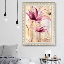 Diy 5d алмазная картина Хрустальный цветок гостиная спальня