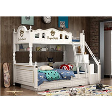 factory good price kids bunk beds with white color(China)