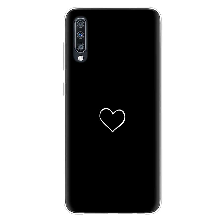 Uyellow Sweet Loves Silicone Soft Case For Samsung A10 A20 A30 A40 A50 A60 A70 A80 A20E Cover For Galaxy M10 M20 M30 M40 Coque in Fitted Cases from Cellphones Telecommunications