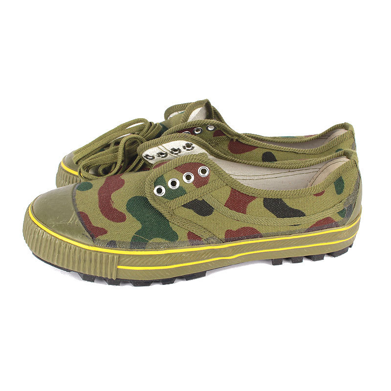 Wholesale Peak Low Top Canvas Rubber Bottom Liberation Shoes Military Training Camouflage Anti-slip Labor Safety Expand Shoes