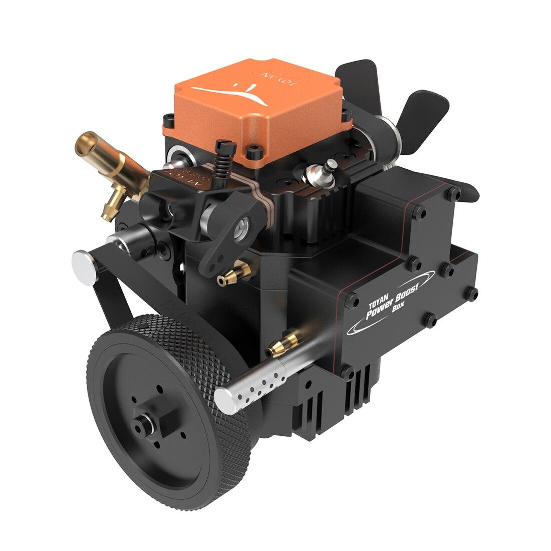 Toyan FS S100WA1 одноцилиндровый 4 тактный механический двигатель метанол модель с водяным охлаждением насос канал для 1:1 автомобилей или кораблей
