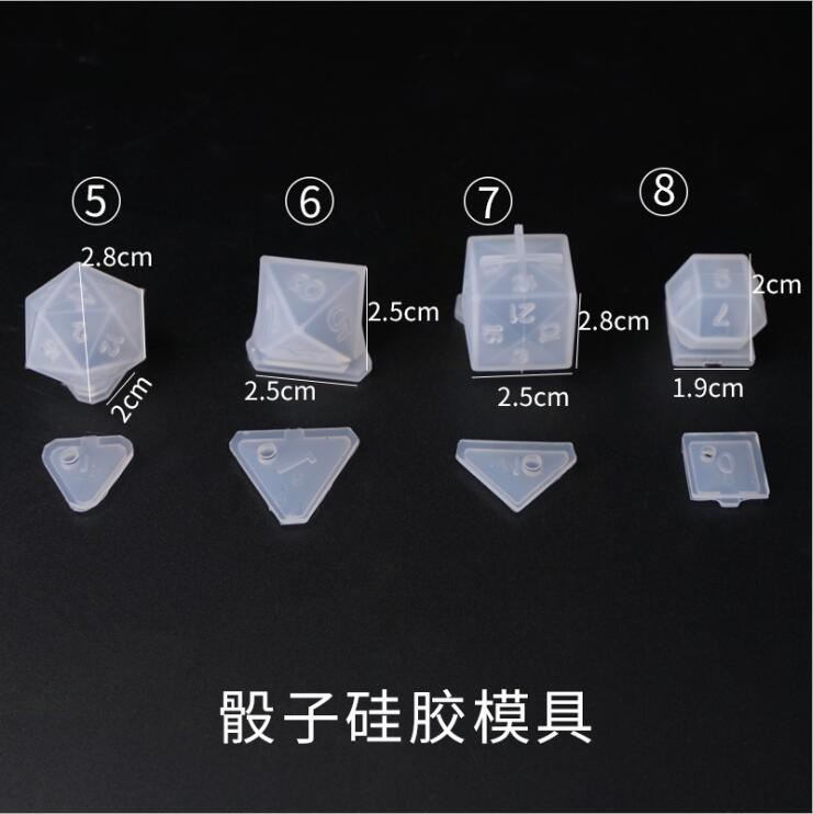 Image 5 - DIY Crystal Epoxy Mold Dice Fillet Shape Multi spec Digital Game High Mirror dice mold silicone Mould MakingJewelry Tools & Equipments   -