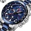 Relogio Masculino 2019 Neue Uhren Männer Luxus Marke LIGE Chronograph Männer Sport Uhren Wasserdicht Voller Stahl Quarz herren Uhr