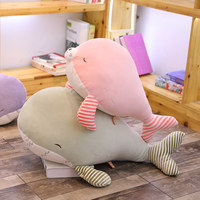 Creative New Elastic Velvet Software Pillow Feather Cotton Whale Sea Lion Doll Plush Toy Cushion Children Birthday Gift