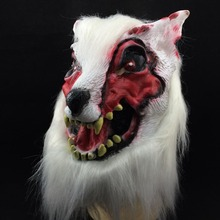 Halloween Costume Party Props Horror Devil Wolf Head Mask Full Silicone Animal Masks Decors