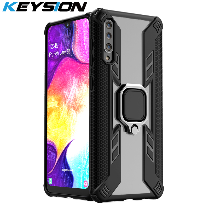 Shockproof Armor Case For Samsung Galaxy A50 A30 A20 A10 M20 Stand Car Ring Phone Cover For Samsung S10 S10e A9 A7 2018