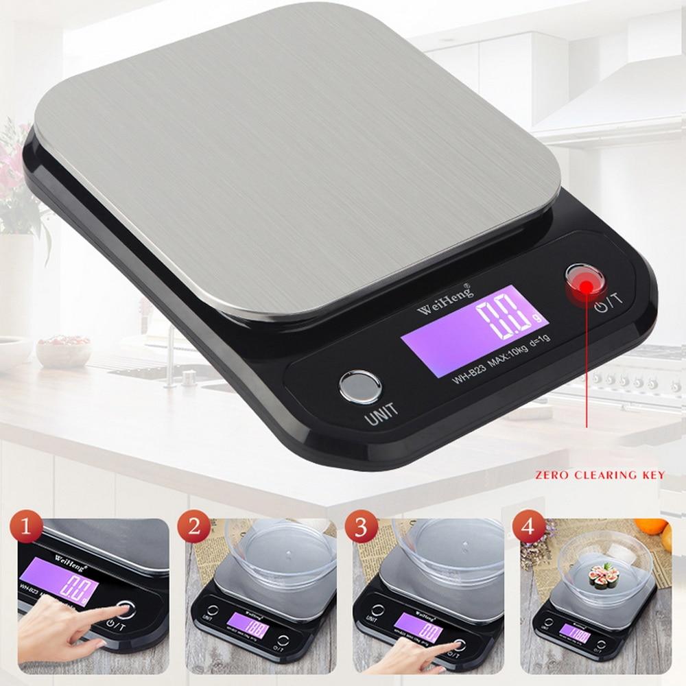 postal comida balança de medição peso cozinha digital aço inoxidável