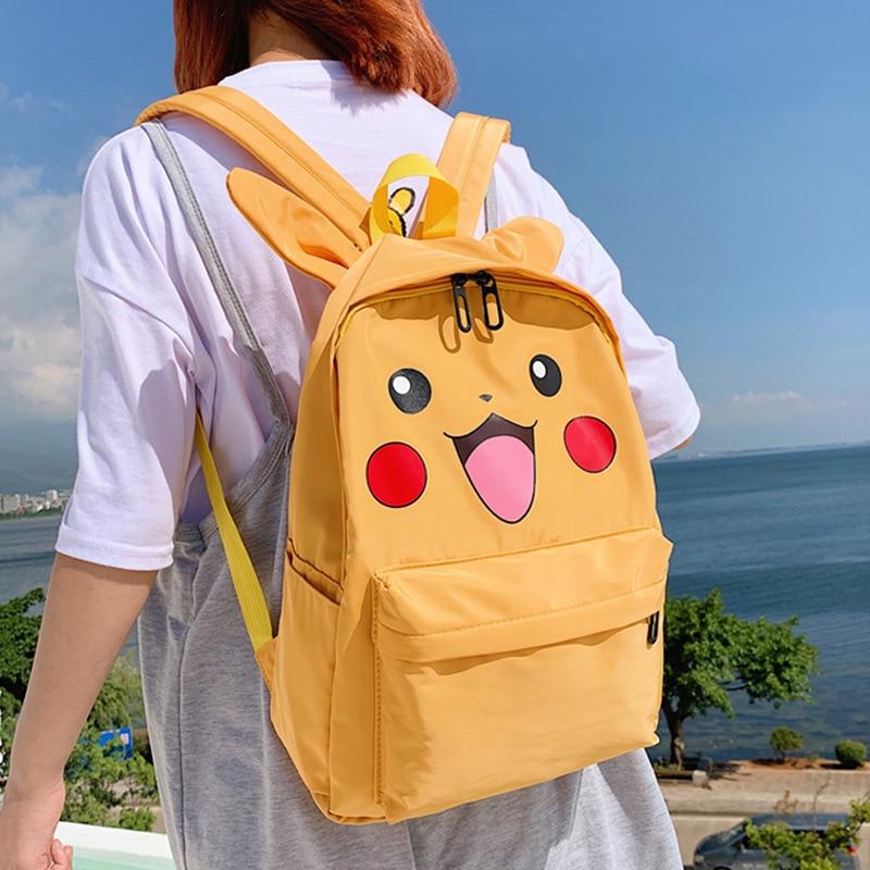 2019 New Cute Pokemon Pikachu Backpack Children Student Book Backpack Daily Backpack Cartoon School