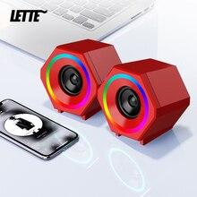 Red USB Wired Computer Speakers AUX Input USB Powered Wireless Bluetooth Bass Reinforcement Mini Speaker for Laptop Desktop