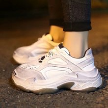 цены Casual Shoes Women Platform Sneakers Designer Chunky Trainers Woman White Shoe Ladies For 2019 Chaussures Femme Zapatillas Mujer