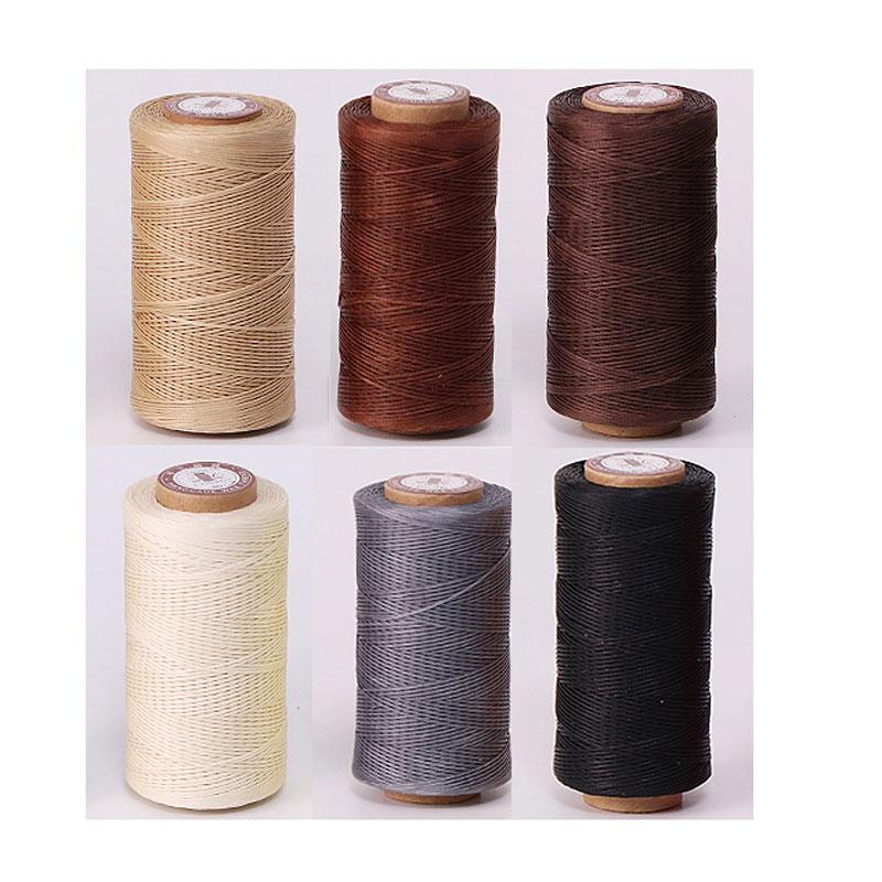 Плоская Вощеная швейная линия HQ 50 м 150D 0,8 мм, вощеная нить для кожи, вощеный шнур для кожи, ручная строчка, нить
