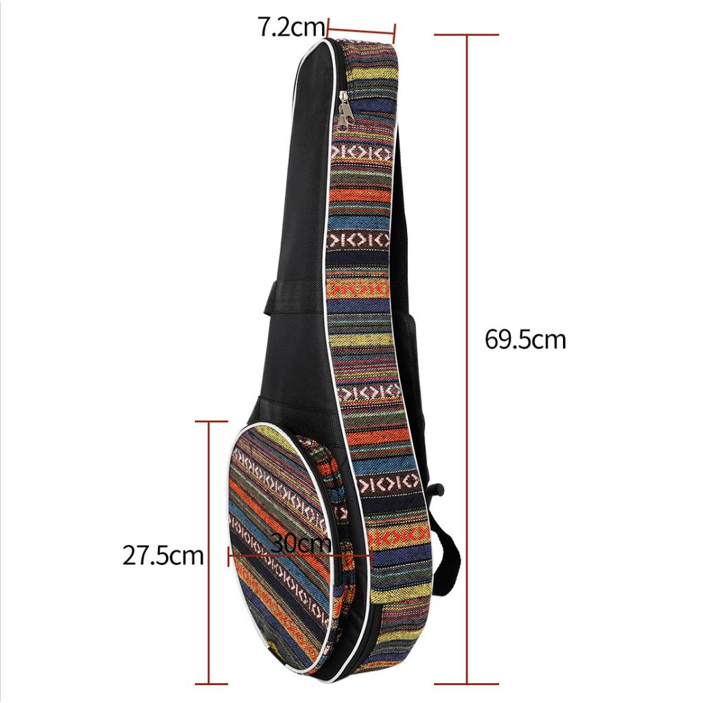 Simple Brieft IRIN Mandolin Backpack Oxford Padded Oxford Cloth Bag Case Kid Christmas Gift