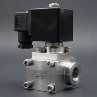 Solenoid Valve Normally Closed valve 304 Stainless Steel High Pressure Car Wash 0~300bar NC water Valve 3/8 1 NPT BSP 2 Way
