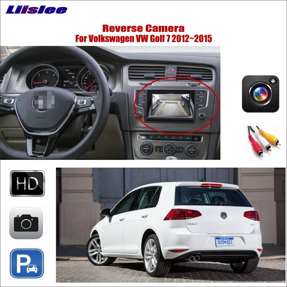 Liislee Car Reverse Rear Camera For Volkswagen Golf 7 Golf7 2012~2015 Connect Original Screen Monitor RCA Adapter Parking CAM