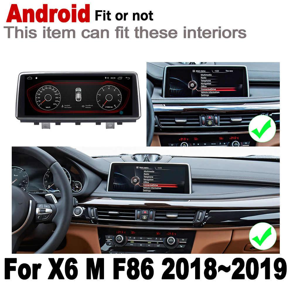 アンドロイド車プレーヤー bmw X6 M F86 2018 2019 EVO オリジナルスタイル 2 Din 画面ステレオナビ Autoradio Bluetooth gps ナビゲーション地図