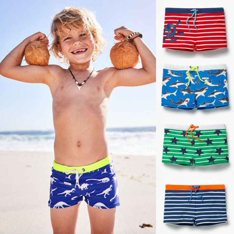 2 Pieces Boys Swim Trunks Quick Dry Waterproof Beach Swim Shorts Little Boys Bathing Suit Swimsuit Toddler Boy Swimwear 4-12 Years