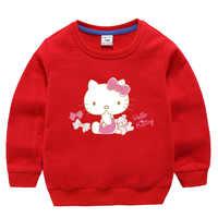 Ciao Kitty Del Bambino Delle Ragazze Dei Ragazzi Felpe Bambino di Autunno della Molla Felpe Maniche Lunghe Maglione T-Shirt Per Bambini Vestiti Abbigliamento Per Bambini