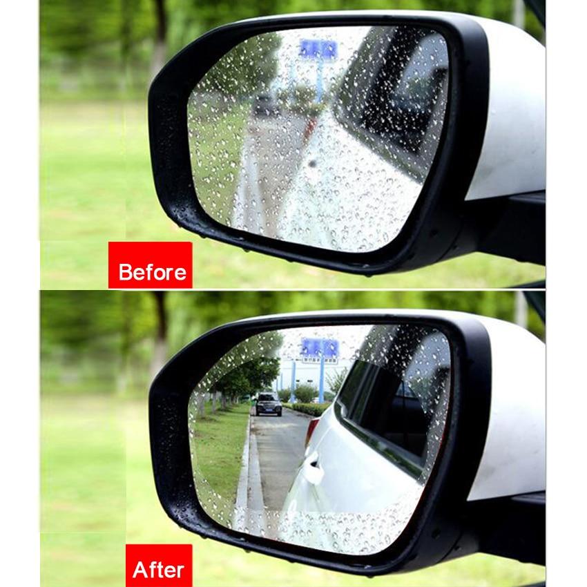2Pcs 95mm Car Auto Anti Fog Rainproof Rearview Mirror Protective Film Accessory