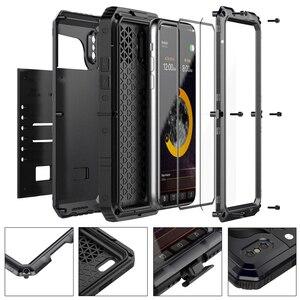 Image 3 - Funda protectora de Metal resistente para Iphone, carcasa resistente al agua Ip68, a prueba de golpes, para Iphone 11 Pro X Xs Max Xr 6 6S 7 8 Plus Se 360, 2020