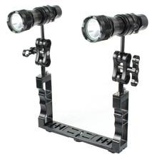 알루미늄 합금 다이빙 카메라 홀더 핸들 트레이 그립 브래킷 손전등 키트 이동 프로 액션 카메라 수중 사진