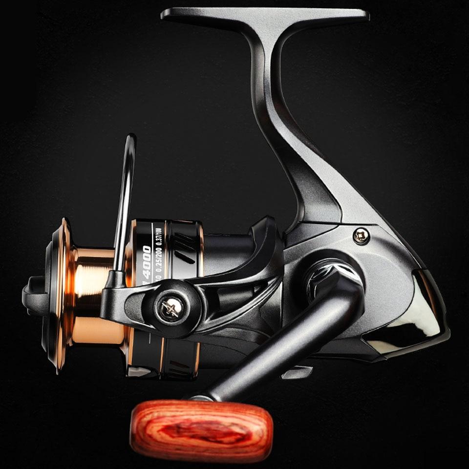 HM1000-7000 Spinning Reel Max Drag 8kg Saltwater Surf Carp Fishing Reel 5.2:1NEW
