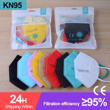 Maske Mascarilla FFP2 Anti-Dust-Mask Masksblack Protectivce Ffp2reutilizable Kn95 5-100piece