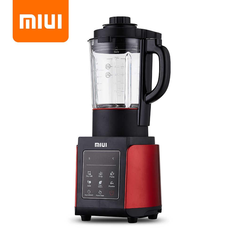 Miui profissional liquidificador misturador processador de alimentos japão lâmina juicer máquina de smoothie de gelo inteligente-presets máquina de cozinhar 1.75l