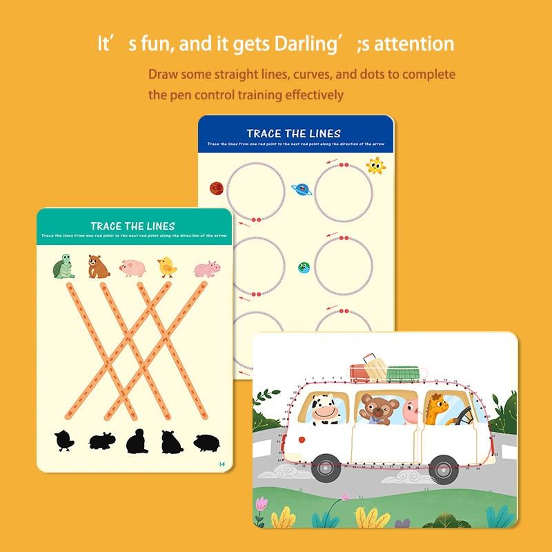 Tablet de desenho infantil montessori, brinquedos diy, jogo de matemática em cores, conjunto de livro de desenho, brinquedos educativos para crianças 3