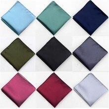 Solid Plain Men Suit Pocket Handkerchief Solid Color Pocket Square Scarf Wedding Dress Chest Towel Handkerchief chest pocket wrap blouse