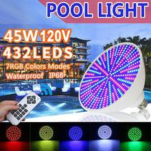Par56 Светодиодный светильник для бассейна 45 Вт rgb120v ip68
