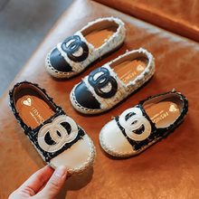 Kids Shoes Girls Shoes Fashion Weave Girls Dress Shoes Soft Sole Loafers Princess Flats Shoes Girls cheap CN(Origin) Spring Autumn Unisex 25-36m 3-6y 7-12y 12+y Shallow Slip-On Rubber