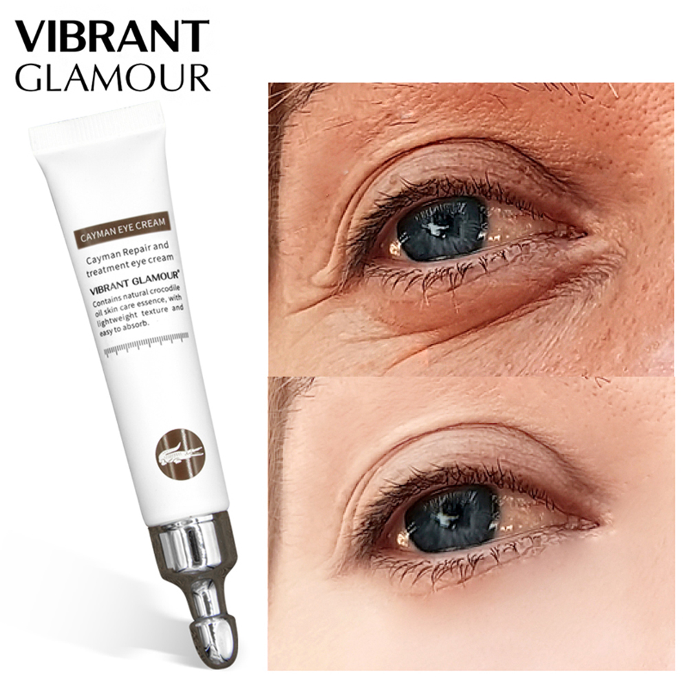 1PC VIBRANT GLAMOUR Magic Anti-age Eye Cream Cayman Eye Serum Wrinkle Removal Dark Circle Eye Bags Peptide Serum Repair Cream