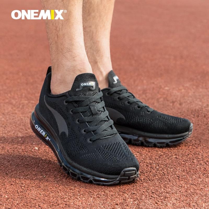 Купить с кэшбэком ONEMIX 2020 Men Running Shoes Light Women Sneakers Soft Breathable Mesh Deodorant Insole Outdoor Athletic Walking Jogging Shoes