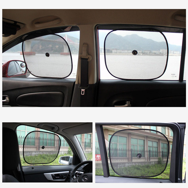 Image 3 - 2Pcs/Set 44*37cm Black Car Sun Shade Side Rear Car Window Sunshade Cover sun protectAuto Accessories parasole auto parasol coche-in Side Window from Automobiles & Motorcycles