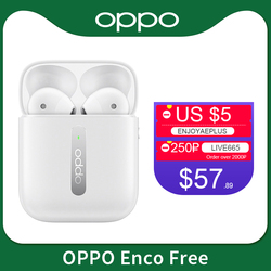 Oppo Enco Free True Wireless Earphone TWS Bluetooth 5.0 Dynamic Driver 31mAh Battery Earphone IPX4 For OPPO Find X X2 PRO