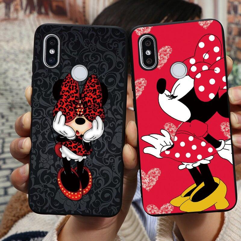 Cartoon Mouse Cute Soft TPU Case For Xiaomi Redmi Mi Note 9 Pro Max 9S 8T 8 7 6 5 10 K30 K20 5A 4X A3 8 9 S Lite CC9 Pro SE Case