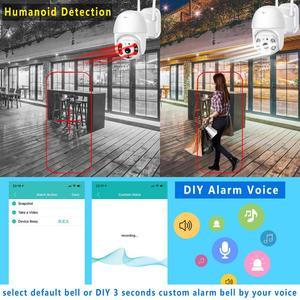 Image 2 - BESDER 1080P Outdoor Speed Dome Wifi IP Camera 2MP H.265 Audio PTZ Wireless AI Camera Cloud SD Slot ONVIF Security CCTV Camera