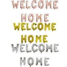 1セットローズゴールド歓迎ホーム手紙ホイルバルーンにようこそホームイベントパーティーsupliersインフレータブル空気ボール装飾