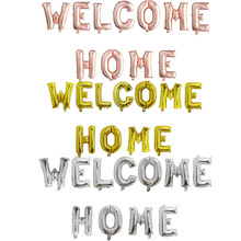 1set Rose Gold Welcome Home Letter Foil Balloons Welcome Back to Home Event Party Supliers Inflatable Air Balls Decoration