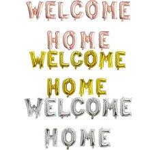 1set Rose Gold Willkommen Zu Hause Brief Folie Luftballons Willkommen Zurück zu Hause Event Party Supliers Aufblasbare Luft Kugeln Dekoration